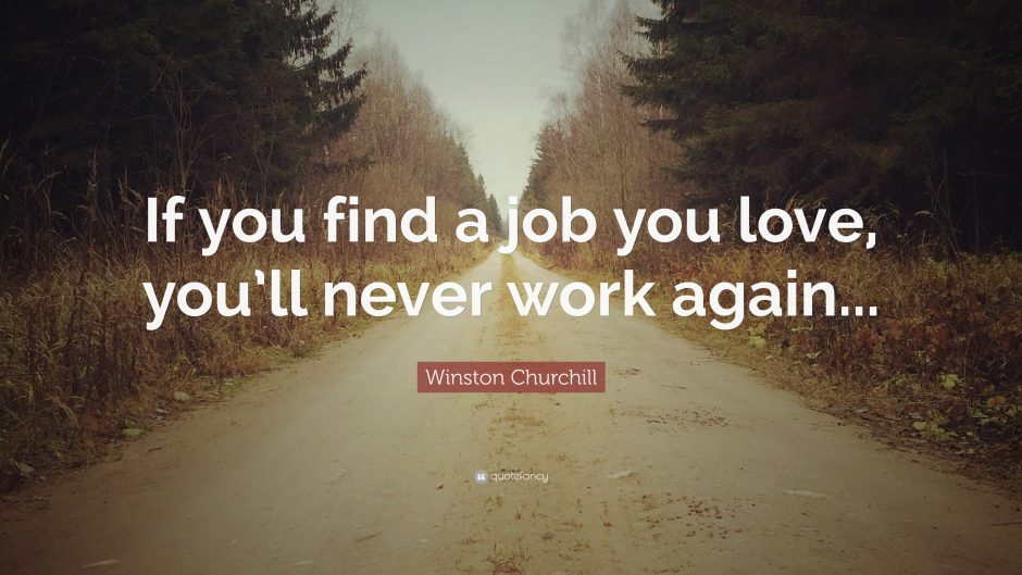 Find A Job You Love Quote Magnificent 48WinstonChurchillQuoteIfyoufindajobyouloveyoull